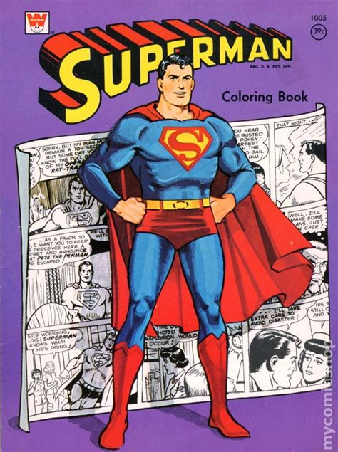 from superman to books superman coloring book sc 1965 1980 whitman comic books