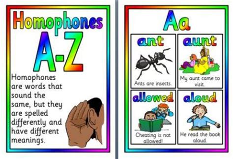 printable homophone poster literacy resources for writing many free sets of posters