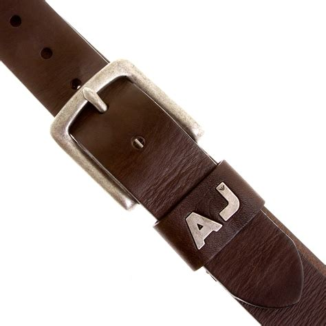 armani m611 675 chocolate brown leather belt ajm2216