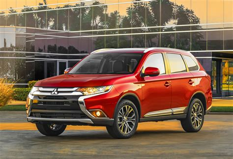 red mitsubishi outlander wallpaper mitsubishi outlander hybrid suv red cars