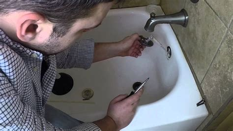 unclog a bathtub drain yourself how to unclog your bathtub drain in 5 minutes youtube