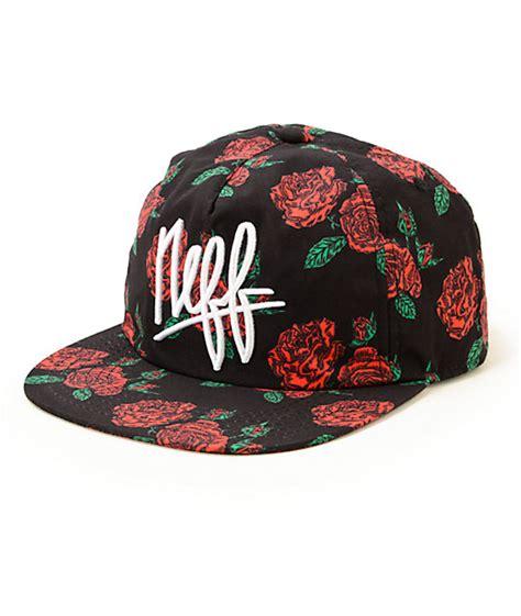 Floral Hat neff hazy floral snapback hat