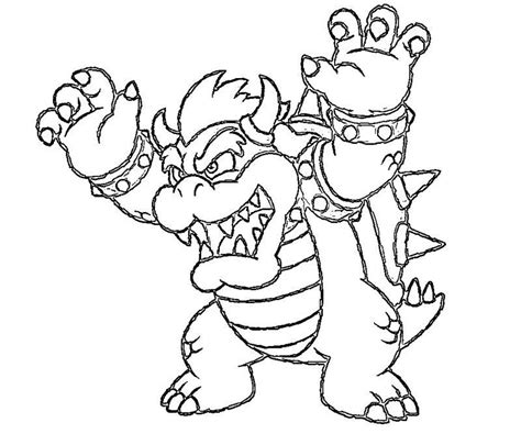 free coloring pages of bowser