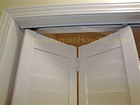 How To Install A Bi Fold Closet Door Handymanhowto Com How To Replace Bifold Closet Doors