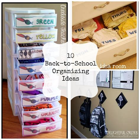 organization tips for school 10 back to school organization ideas home things