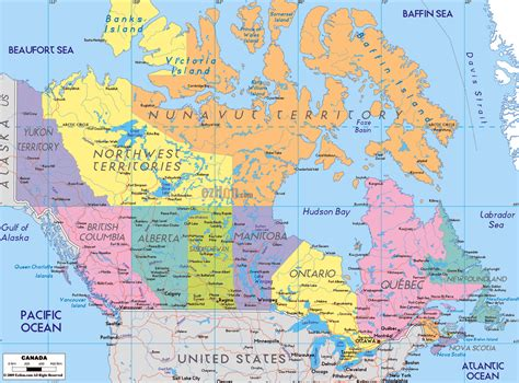 map of canada and usa with cities maps of canada map library maps of the world