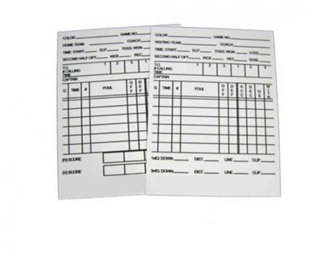 football referee information card template football referee reusable information card information