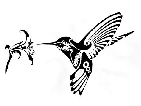 tribal bird tattoos 10 awesome tribal hummingbird tattoos only tribal