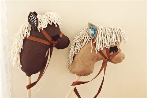 diy stick pony gift idea diy stick horses a beautiful mess