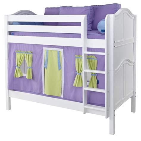 bunk bed playhouse get it mid size playhouse bunk bed in white by maxtrix 740 1