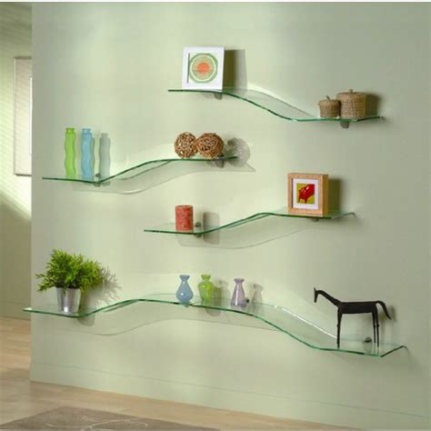 Glass Bathroom Shelves That Require Decoration Home Glass Shelves For Bathroom Wall