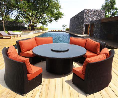 cassandra  outdoor wicker dining sofa set patio