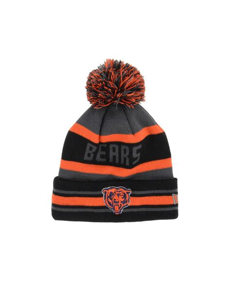 chicago bears knit hat new era chicago bears pop jake knit hat in gray for