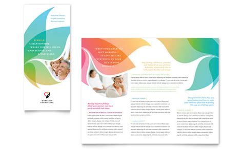 templates brochure mental health marriage counseling tri fold brochure template
