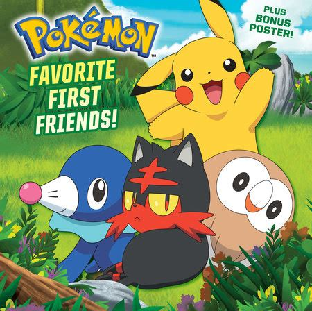 favorite friends pokã mon pictureback r books favorite friends pok 233 mon penguin random house