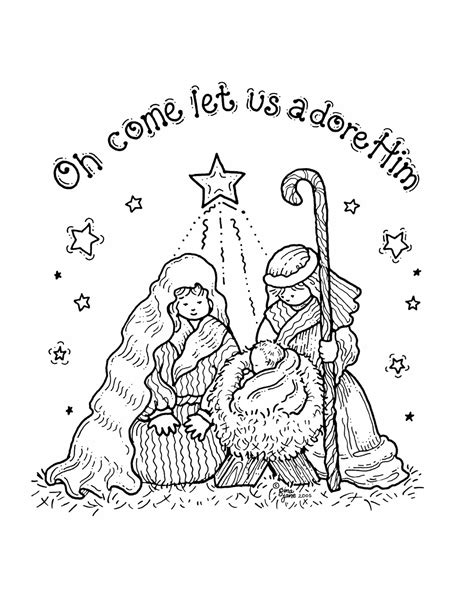 Nativity Coloring Pages For free printable nativity coloring pages for best