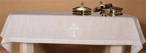 two communion linen set w embroidered ihs 50 quot x