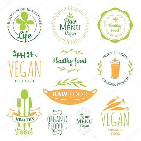 logotipos de cocina logos con comida vegetariana y comida 250 til archivo