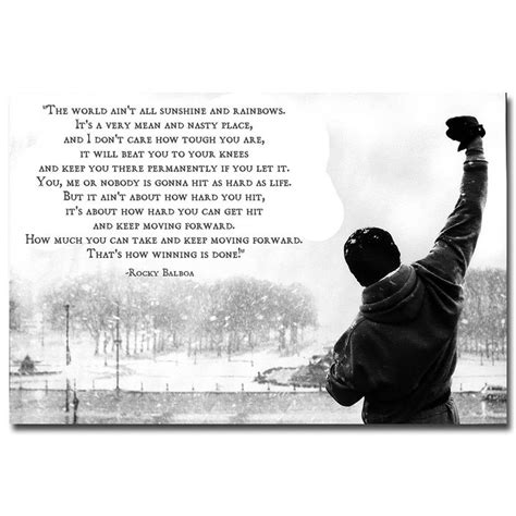 Poster Vintage Pop Quotes Wall Prints 20x30 13 rocky balboa motivational quotes silk fabric poster canvas print 13x20 24x36 inches