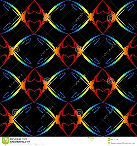heart pattern rainbow rainbow hearts pattern stock images image 10719314