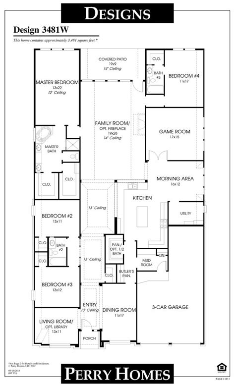story perry home floor plan perry homes house