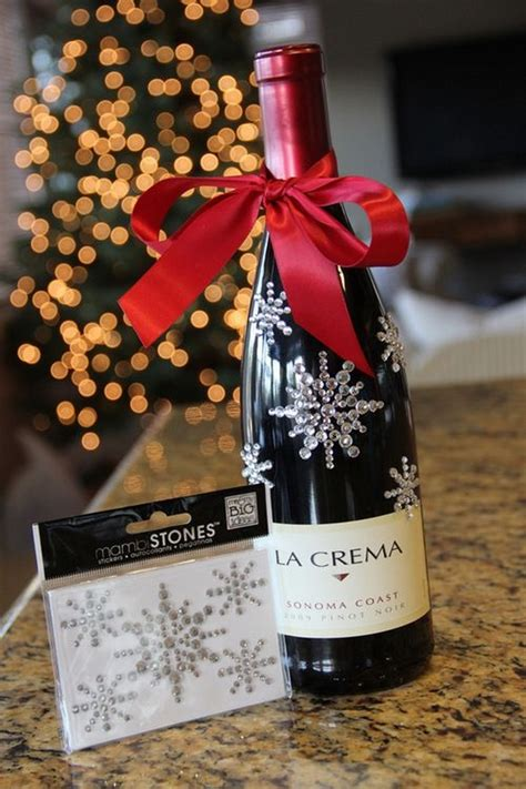 15 creative and beautiful ideas for christmas wine wrapping