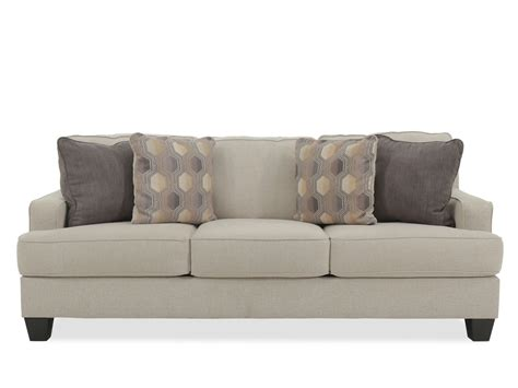 brothers furniture sofa contemporary 85 quot sofa in linen mathis brothers furniture