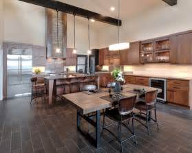 Inspiration for a rustic l shaped eat in kitchen remodel in other with