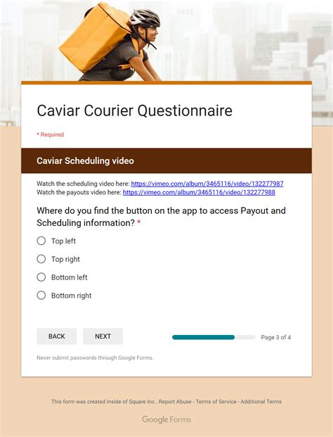 how to sign up for caviar and in person interview session rideshare dashboard