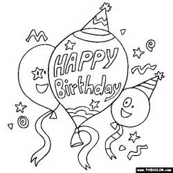 birthday coloring page happy birthday balloons online coloring page