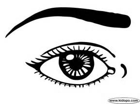 eye coloring page coloring page