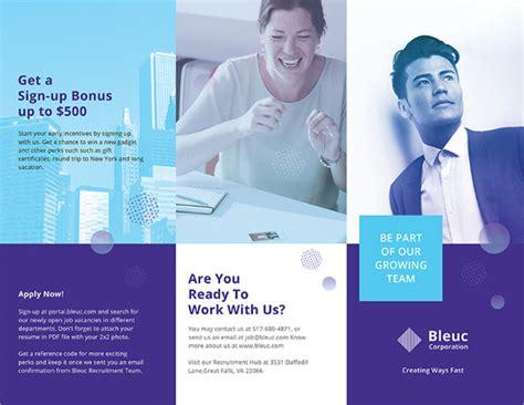 recruitment brochure template indesign brochure template 33 free psd ai vector eps