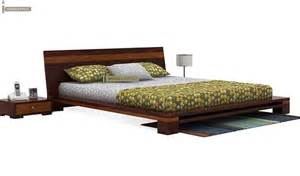 low floor beds melisandre low floor double bed king size mahogany finish