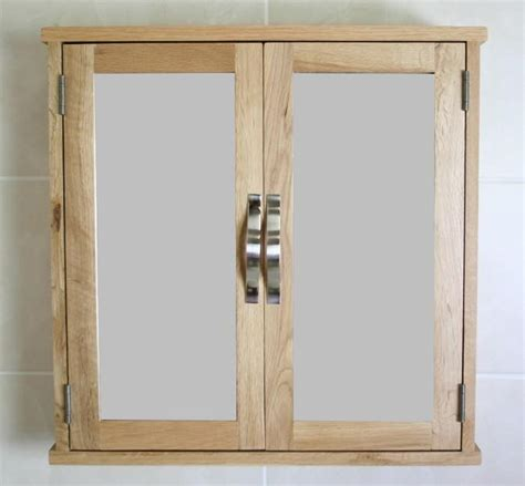 Mirrored Bathroom Cabinet With Shelf by Oak Wall Mounted Mirrored Bathroom Storage Cabinet With