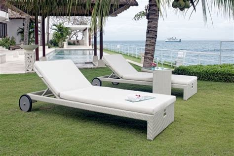 Outdoor Chaise Lounge Chairs With Wheels Design Ideas Miha Chaise Lounge Chair With Wheels From Skyline Design Contemporary Outdoor Chaise Lounges