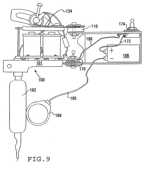 tattoo machine dimensions patent us6550356 tattoo technology google patents