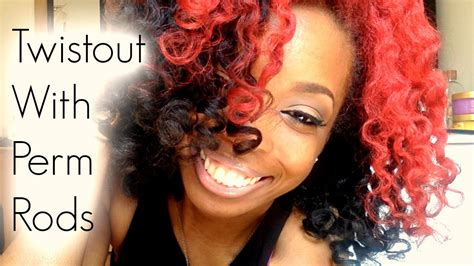 perm rods 4c hair 4c natural hair twistout with perm rods youtube