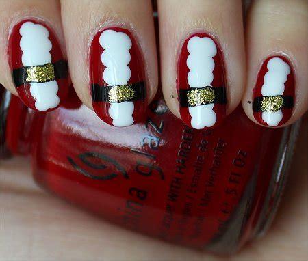 natural nail art tutorial nail art tutorial santa nails swatch and learn
