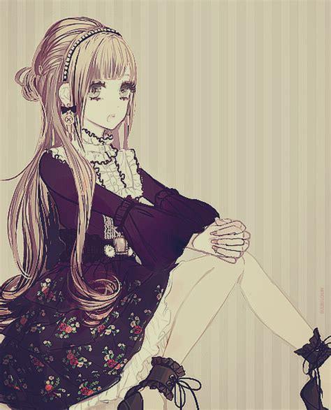 anime hairstyles tumblr victorian anime girl tumblr