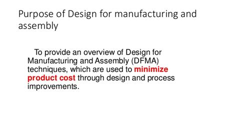 design for manufacturing and assembly bca designing product for the customer house of quality matrix