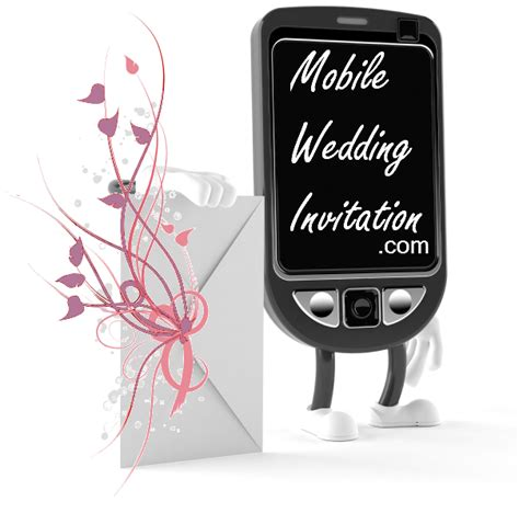 Wedding Invitations Characters by Contact Mobile Wedding Invitation