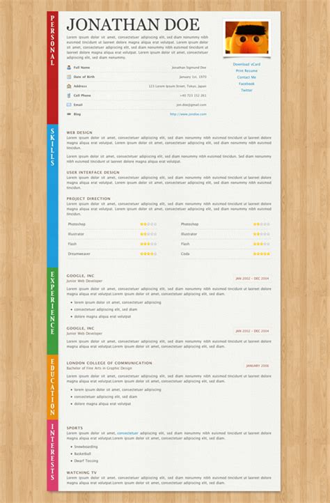 fancy cv template 40 great html cv resume templates template idesignow
