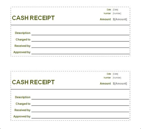 Money Receipt Template by Receipt Template Helloalive