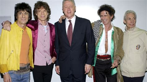 Bill Clinton And Clinton At The Rolling Stones In Concert At The Beacon Theatre by Rolling Stones Shoot Scorsese With The