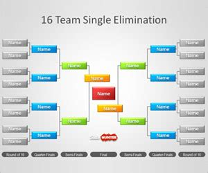 free tournament brackets template for powerpoint free