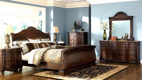 Ashley Furniture Bedrooms bedroom furniture discounts ashley north shore 6pc sleigh