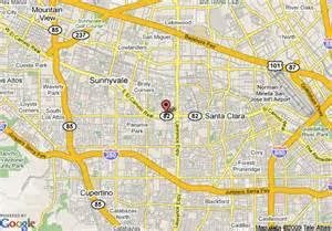 where is sunnyvale california on a map map of comfort inn sunnyvale sunnyvale
