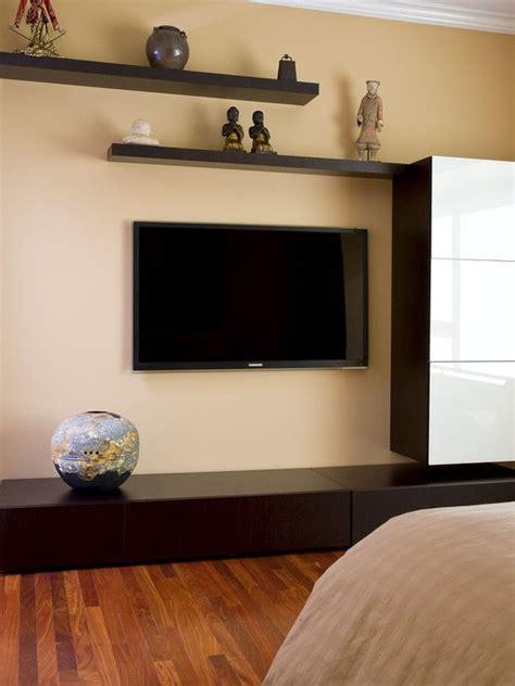 floating shelves  flat screen tv design pictures