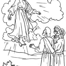 coloring page jesus coming again ascension coloring pages coloring page of jesus ascending