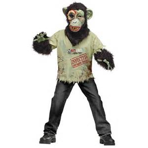 infected halloween costume zombie chimp kid costume boys costumes kids halloween